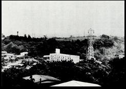 校舎建築以前の矢上台「理工学部五十年史」より