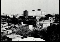 建築後の矢上台(昭和47年)「理工学部五十年史」より